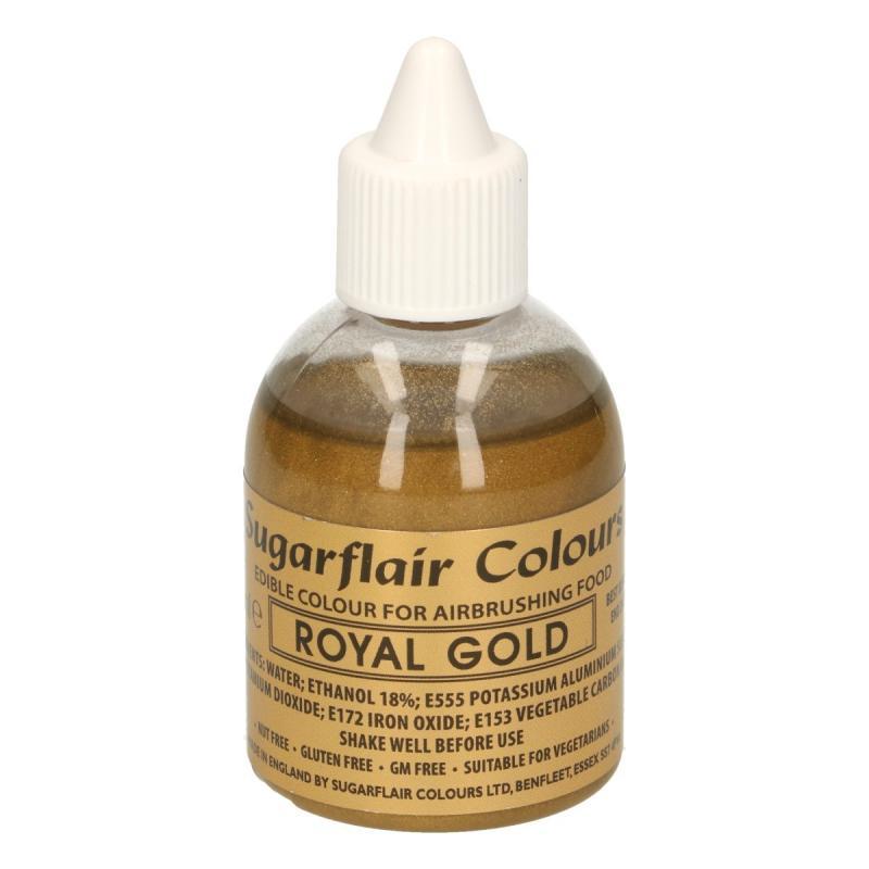 Tekutá farba do fixírky Royal gold glitter, kráľovská zlatá 60 ml