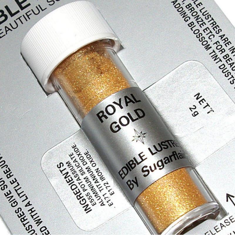 Perleťová prášková farba trblietavá  kráľovská zlatá Royal Golgd 2g
