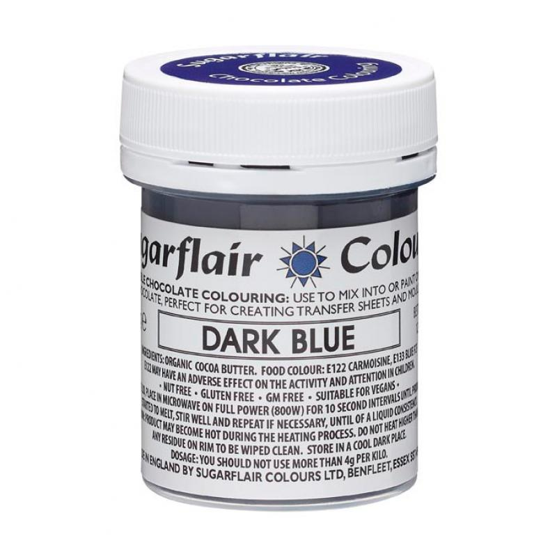 Farba do čokolády DarkBlue, tmavo modrá 35g