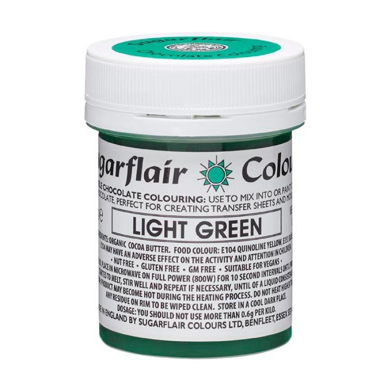 Farba do čokolády Light Green, sv.zelená 35g