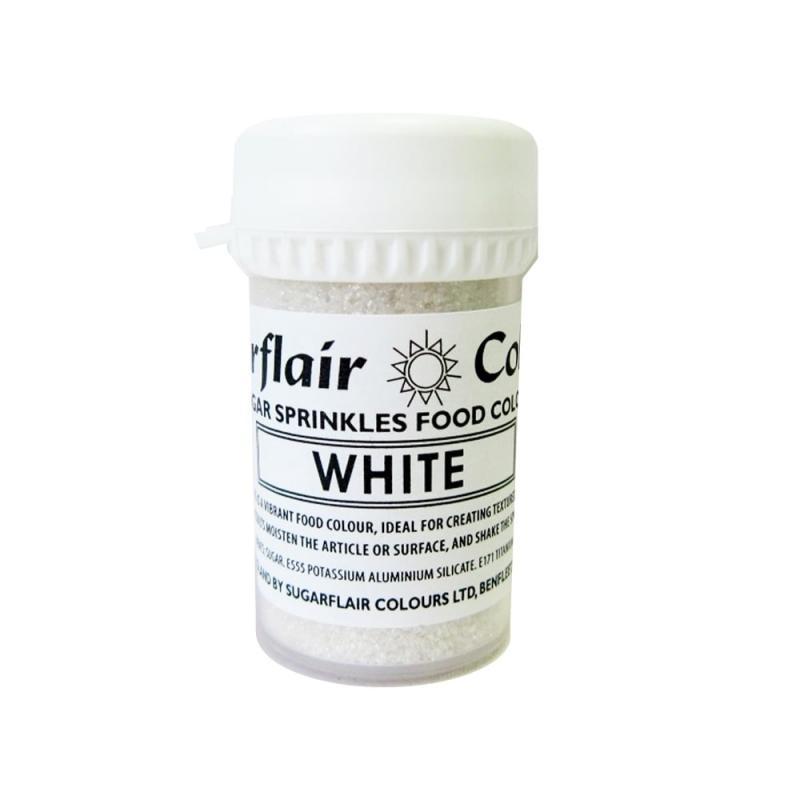 Práškový lesk Sugar sprinkle White, biely 20 g