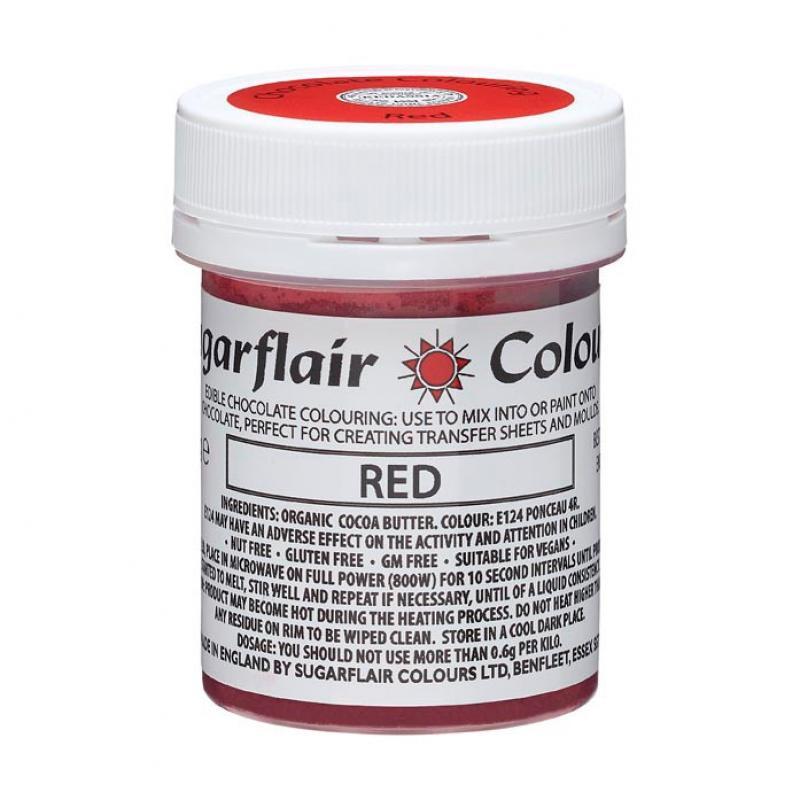 Farba do čokolády Red červená 35g