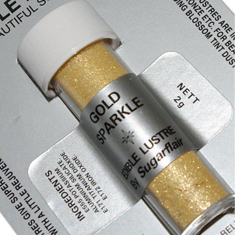 Perleťová prášková farba trblietavá  zlatá  Golgd Sparkle 2g
