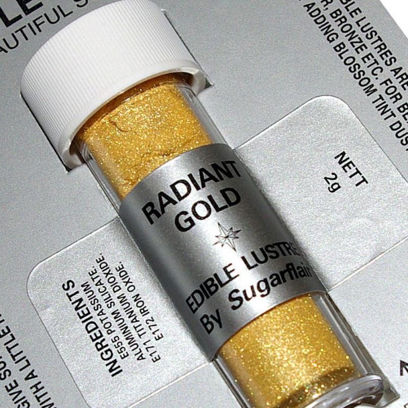 Perleťová prášková farba trblietavá zlatá Radiant golgd 2g