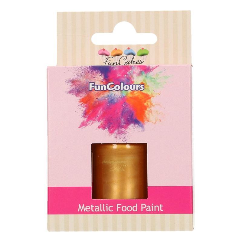 Tekutá farba na priame maľovanie tmavšia zlatá 30 ml