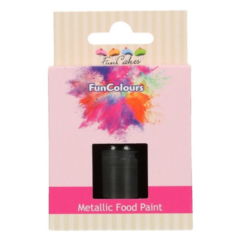 Tekutá farba na priame maľovanie metalická čierna 30 ml