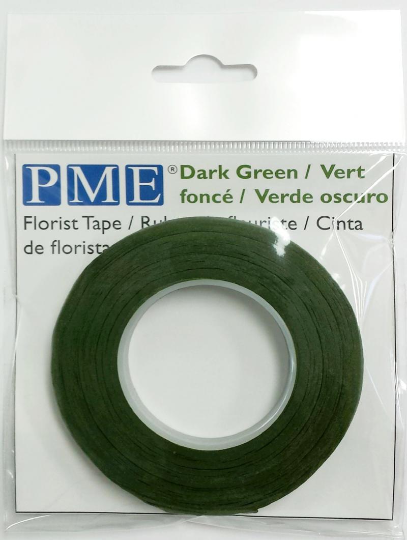 Floristická páska tmavo zelená