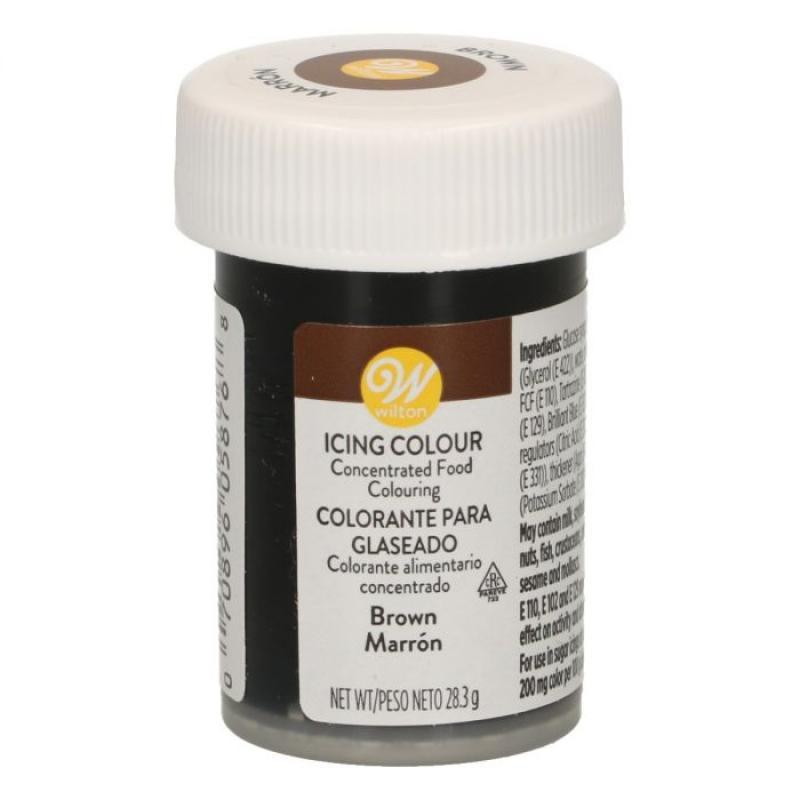 Gélová farba Wilton  28,3 g Brown, hnedá