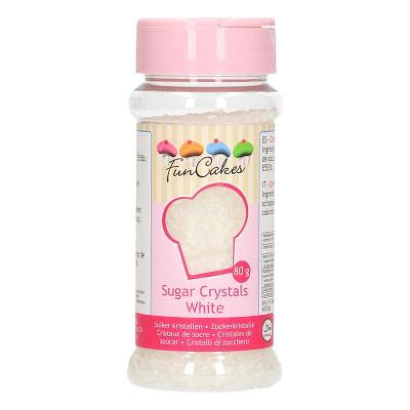 Zdobenie biely perleťový cukrový piesok 80 g