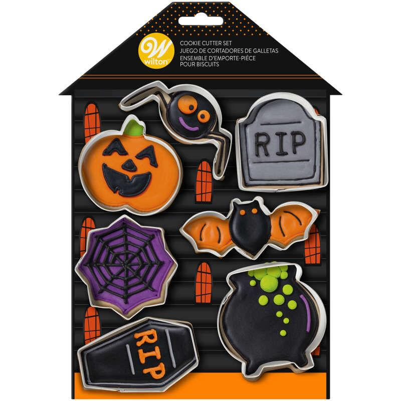 Sada 7 ks vykrajovačov Halloween 02-0-0376
