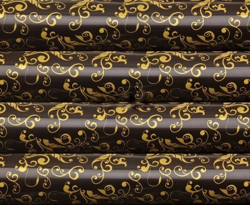 Čokotransfér zlaté ornamenty  30x40 cm vzor 1
