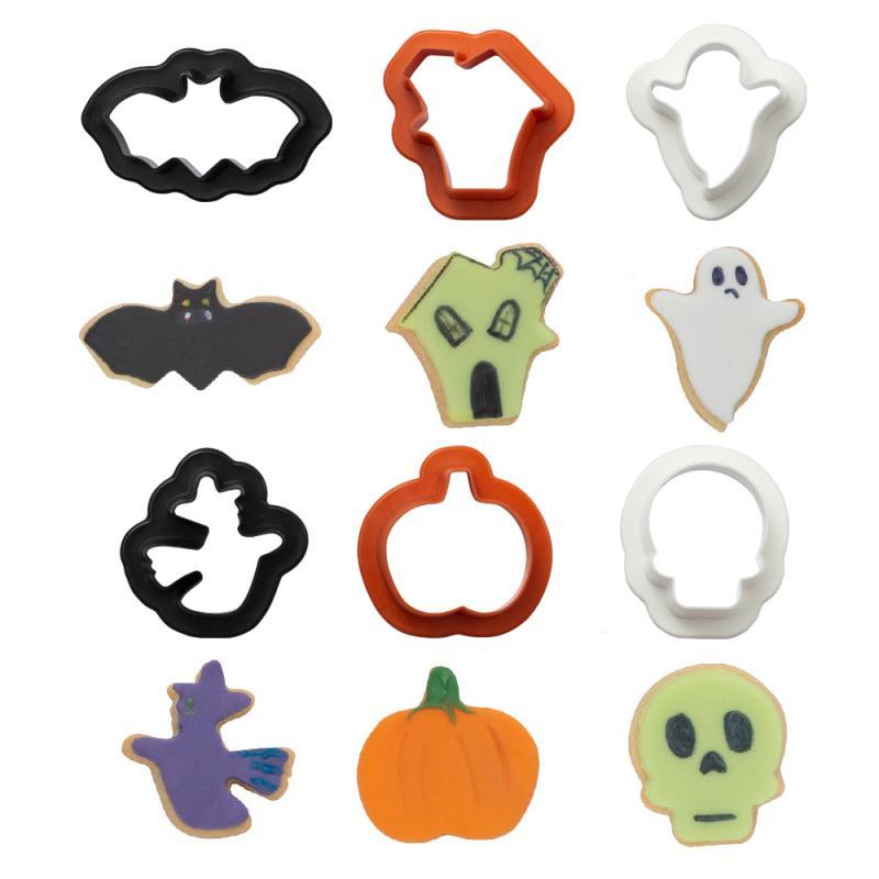 Sada 6 ks mini vykrajovačov Halloween